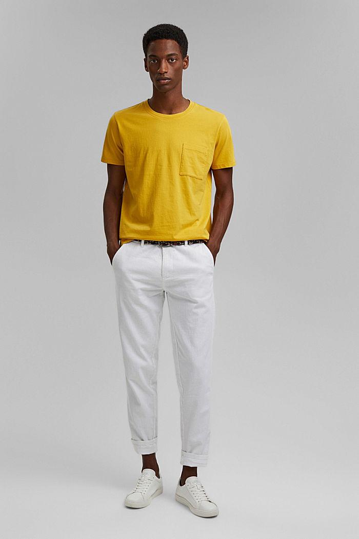 T-shirt en jersey, 100% coton bio, YELLOW, detail image number 2