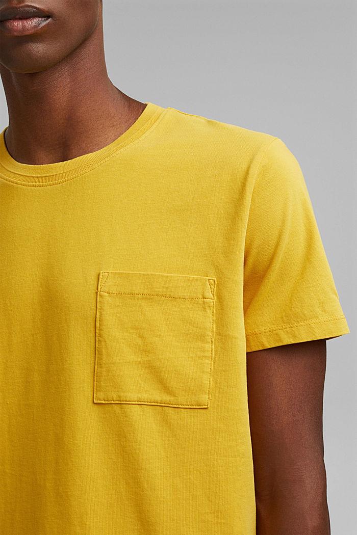 T-shirt en jersey, 100% coton bio, YELLOW, detail image number 1