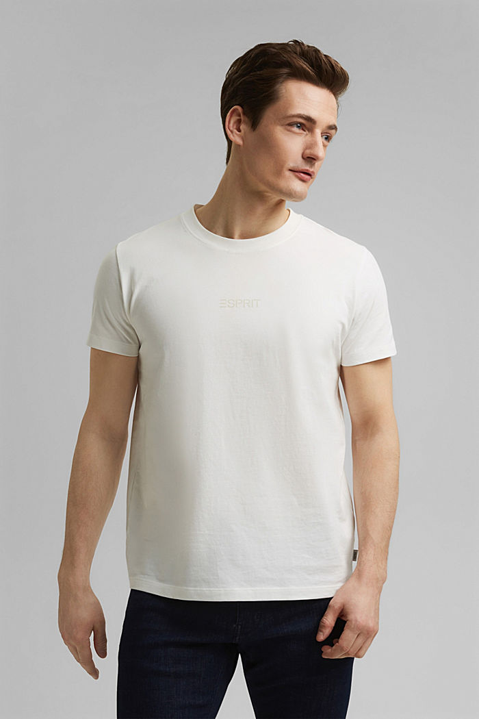 #ReimagineFlexibility: reflective print jersey top, OFF WHITE, detail image number 0