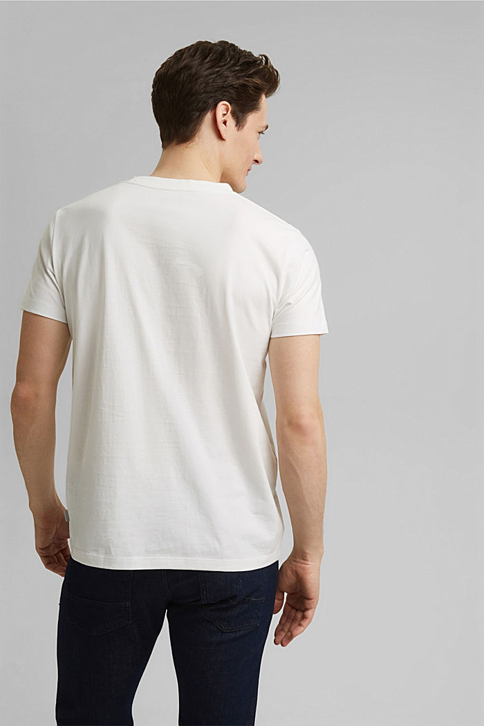 #ReimagineFlexibility: reflective print jersey top, OFF WHITE, detail image number 3