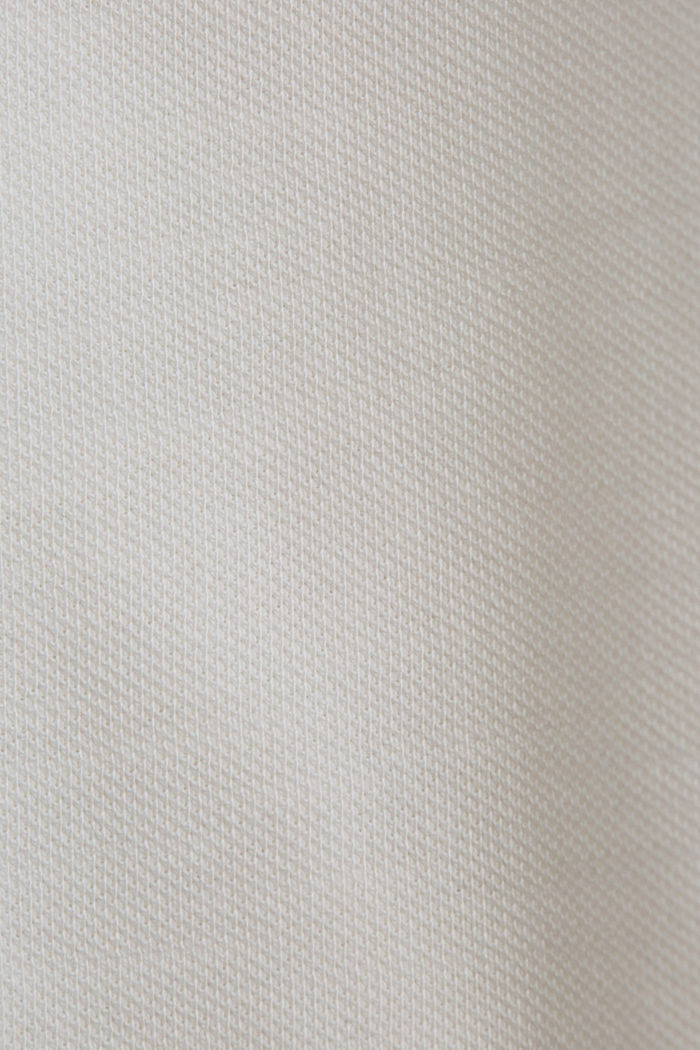 Piqué long-sleeved top, 100% organic cotton, OFF WHITE, detail image number 4
