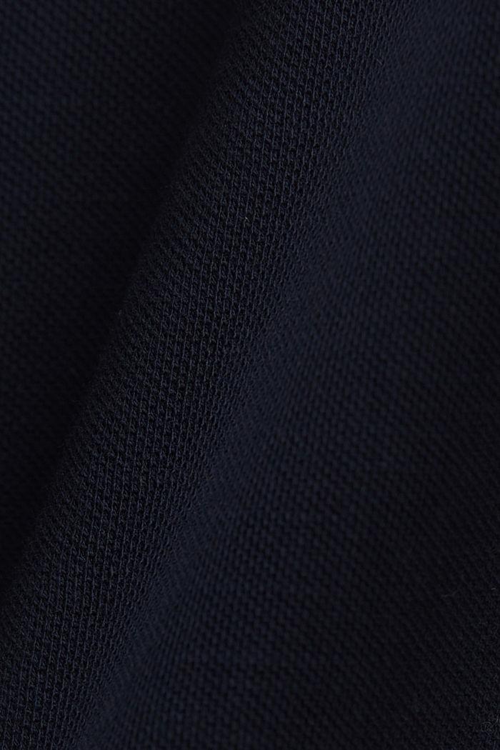 Piqué-Longsleeve, 100% Organic Cotton, NAVY, detail image number 5
