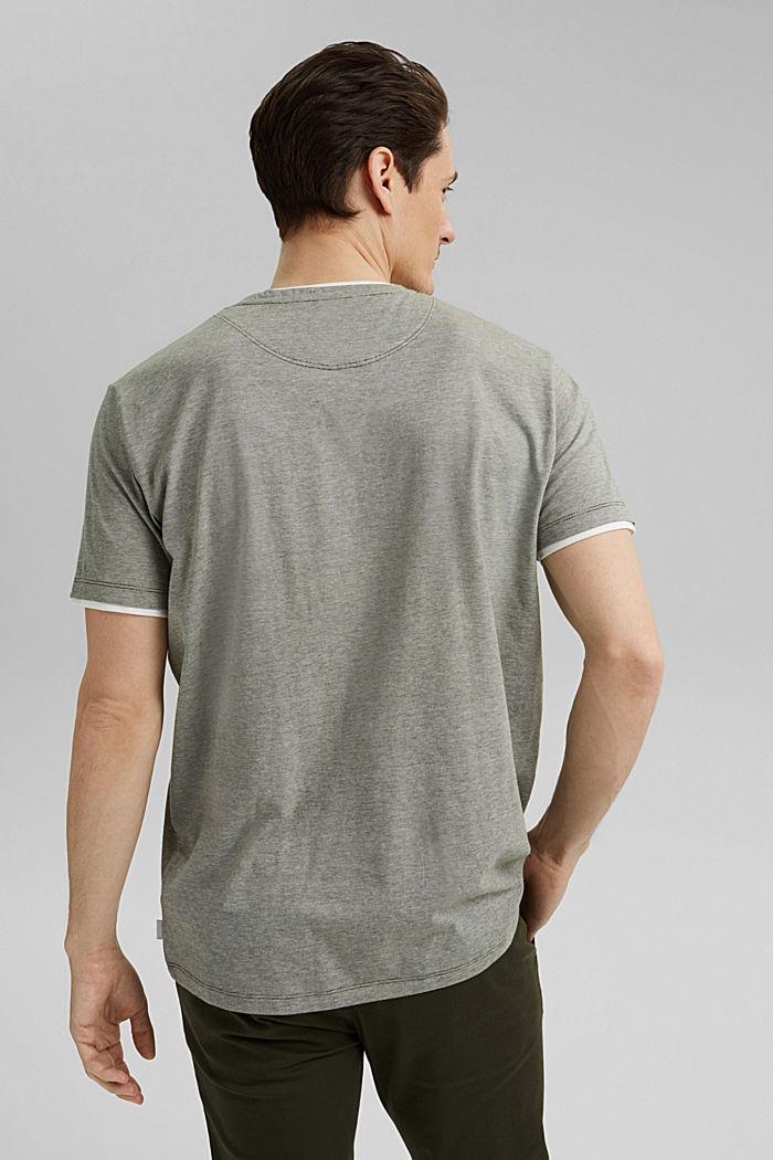 Layered jersey T-shirt, 100% organic cotton, DARK KHAKI, detail image number 3