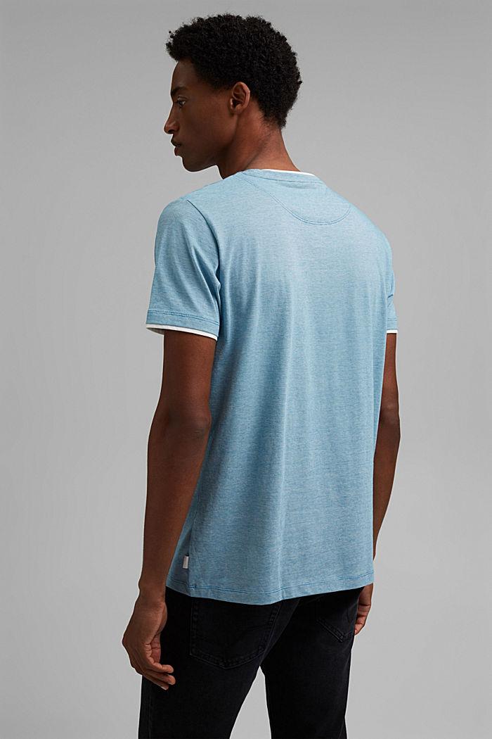 Layered jersey T-shirt, 100% organic cotton, PETROL BLUE, detail image number 3