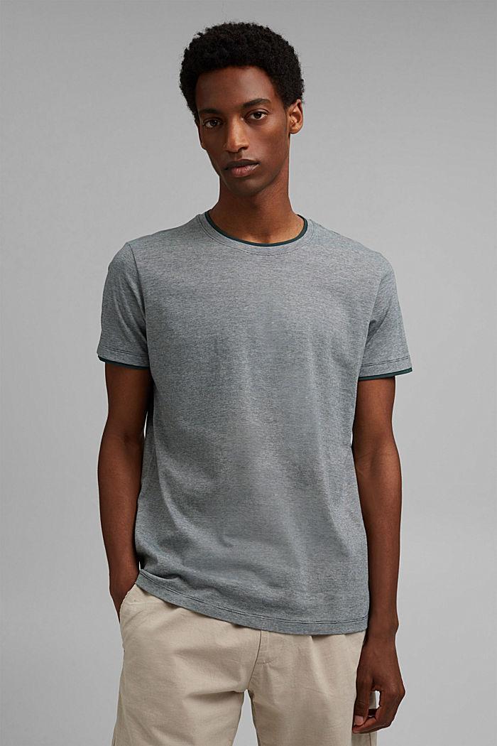 Layer-Jersey-Shirt, 100% Bio-Baumwolle, TEAL BLUE, detail image number 0