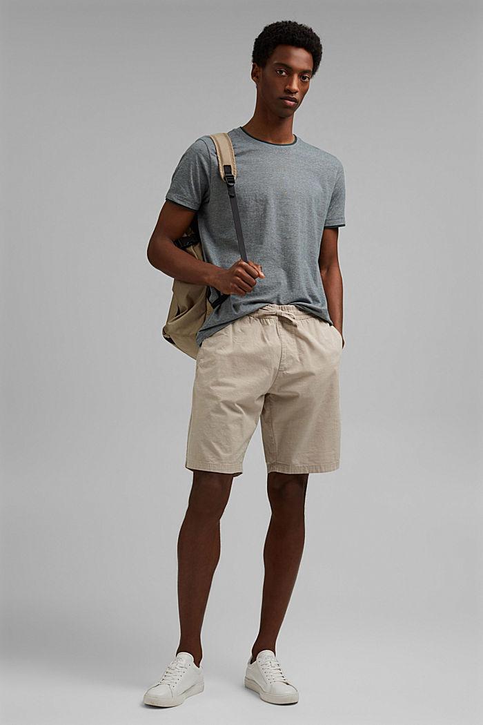 Layer-Jersey-Shirt, 100% Bio-Baumwolle, TEAL BLUE, detail image number 2