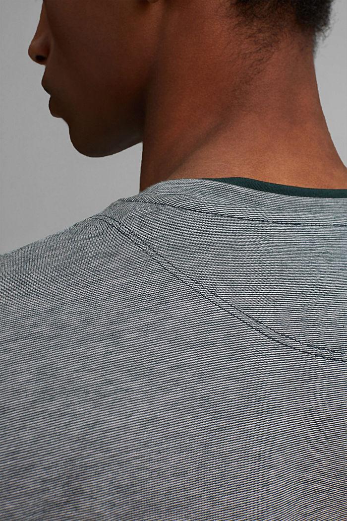 Layer-Jersey-Shirt, 100% Bio-Baumwolle, TEAL BLUE, detail image number 1