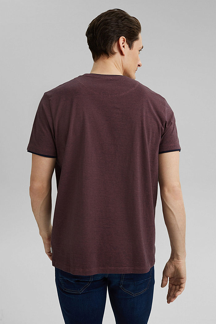 Layered jersey T-shirt, 100% organic cotton, BERRY RED, detail image number 3