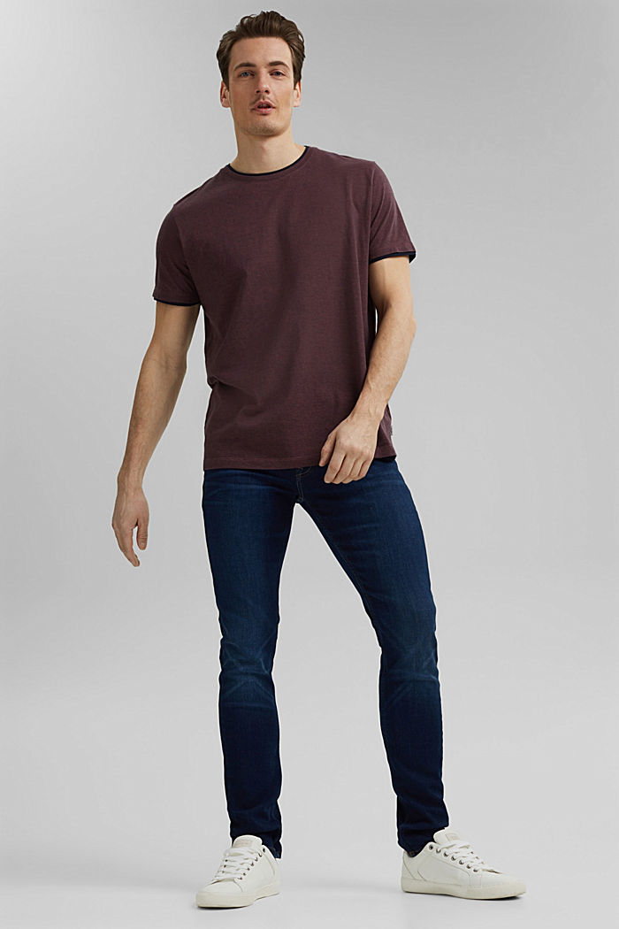 Gelaagd jersey shirt, 100% biologisch katoen, BERRY RED, detail image number 5