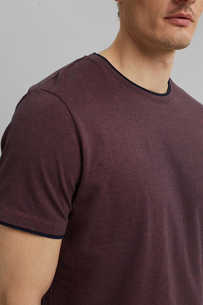 Layer-Jersey-Shirt, 100% Bio-Baumwolle, BERRY RED, detail image number 1