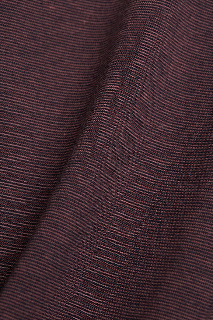 Layered jersey T-shirt, 100% organic cotton, BERRY RED, detail image number 4
