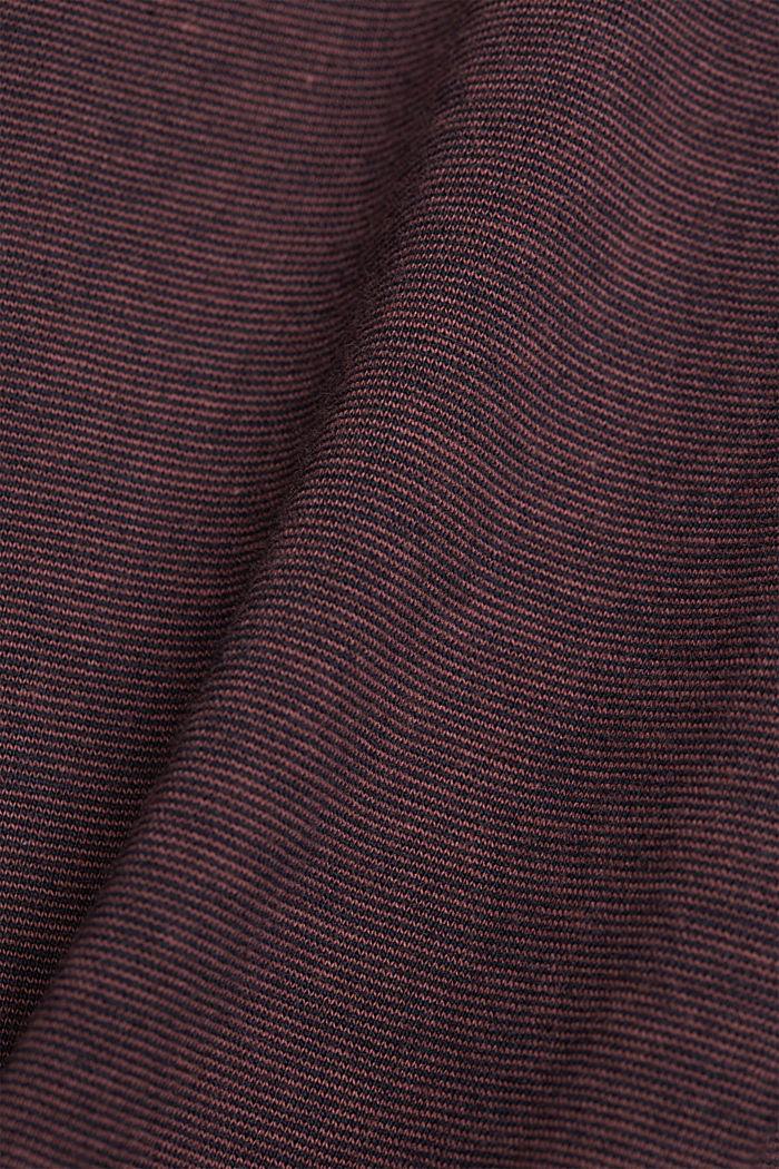 Gelaagd jersey shirt, 100% biologisch katoen, BERRY RED, detail image number 4