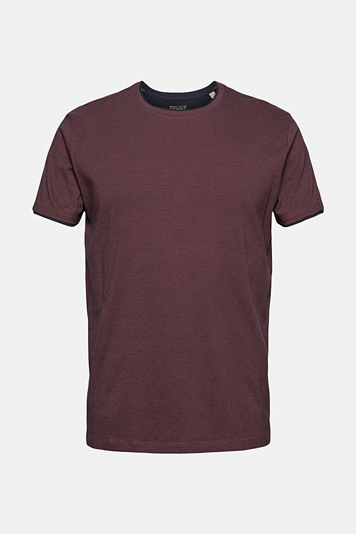 Layered jersey T-shirt, 100% organic cotton, BERRY RED, detail image number 6
