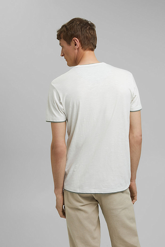 Jersey layered T-shirt made of 100% organic cotton, OFF WHITE, detail image number 2