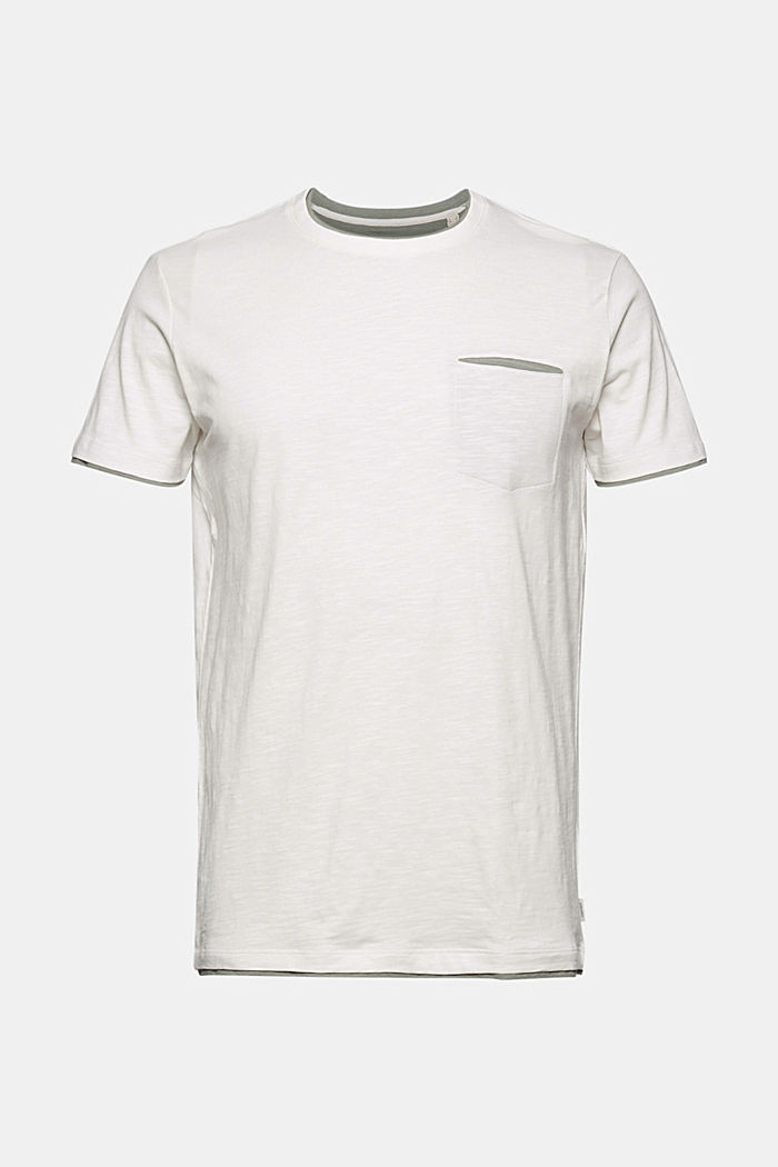 Jersey layered T-shirt made of 100% organic cotton, OFF WHITE, detail image number 4