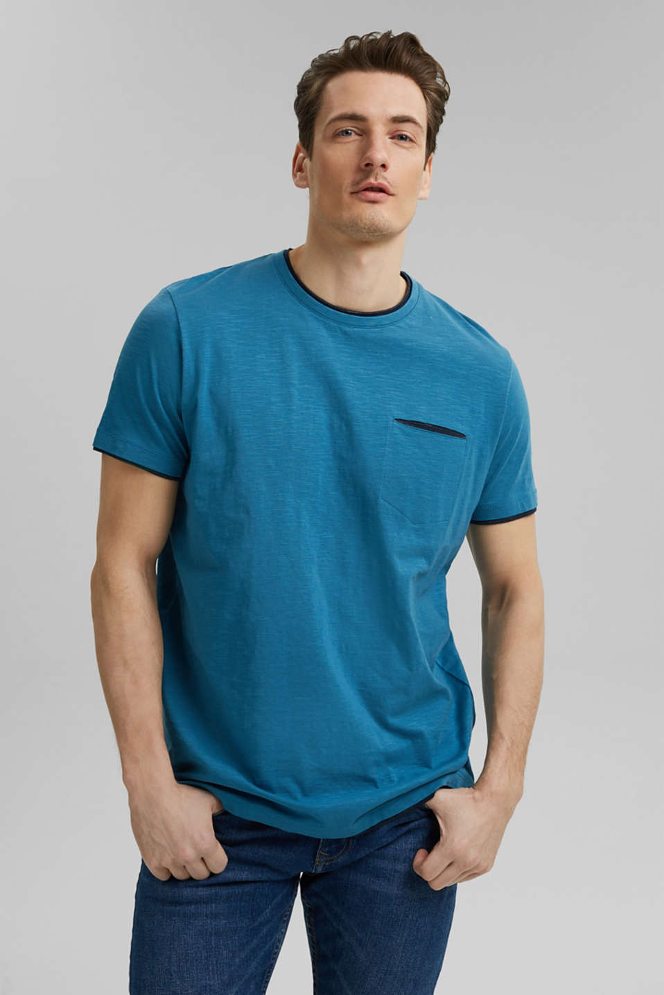 Esprit - Jersey layered T-shirt made of 100% organic cotton