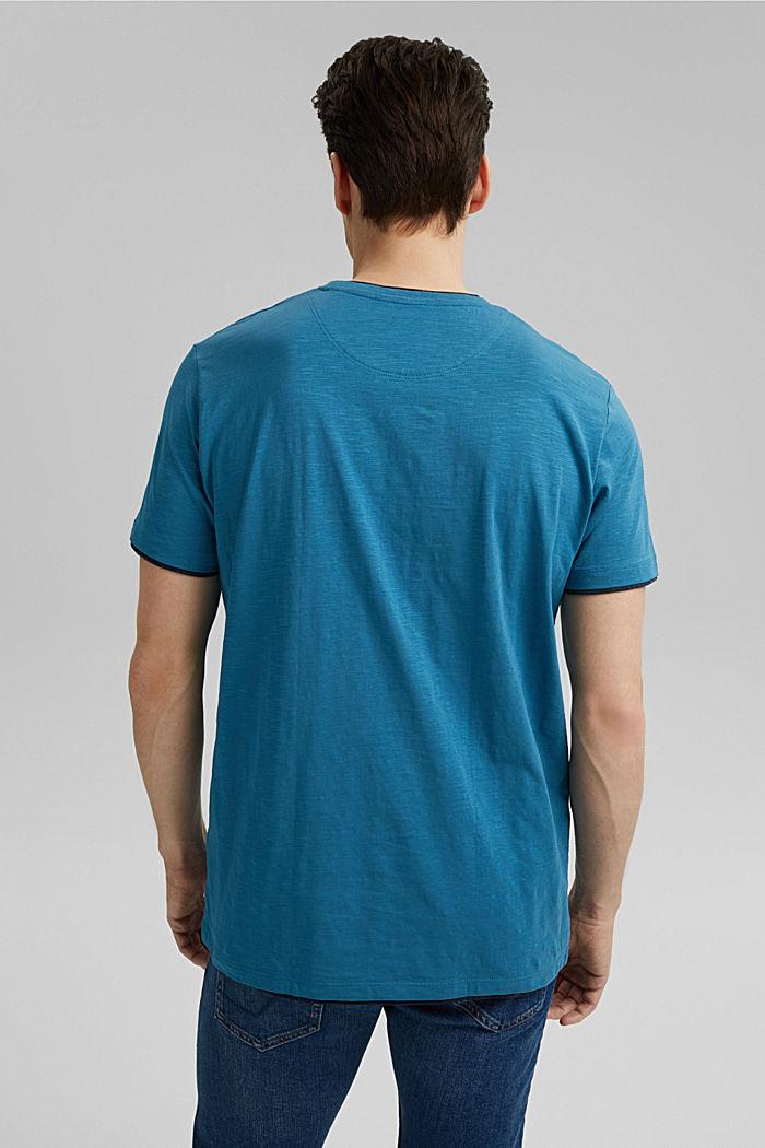Jersey Layer-T-Shirt aus 100% Bio-Baumwolle, PETROL BLUE, detail image number 3