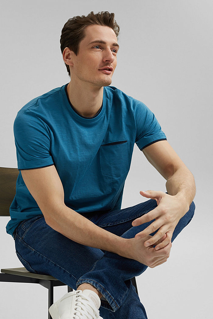 Jersey Layer-T-Shirt aus 100% Bio-Baumwolle