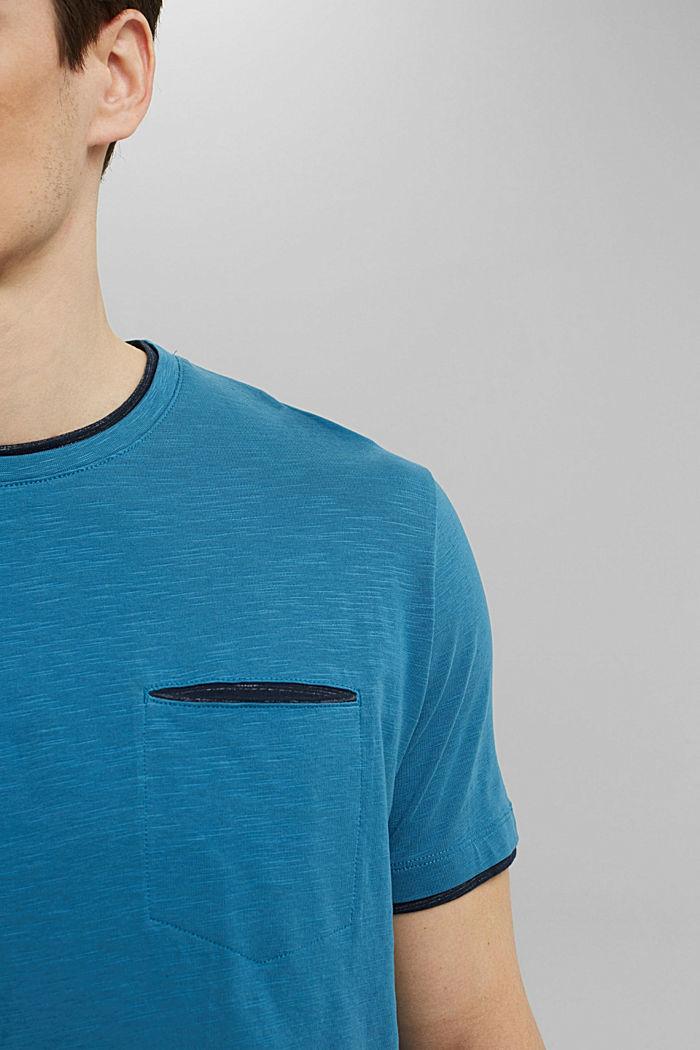 Jersey Layer-T-Shirt aus 100% Bio-Baumwolle, PETROL BLUE, detail image number 1