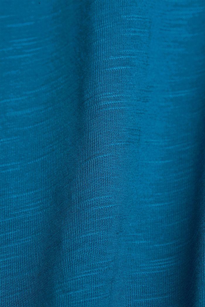 Jersey Layer-T-Shirt aus 100% Bio-Baumwolle, PETROL BLUE, detail image number 5