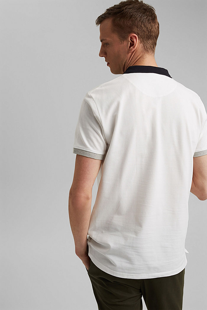 Piqué polo shirt in organic cotton, OFF WHITE, detail image number 3