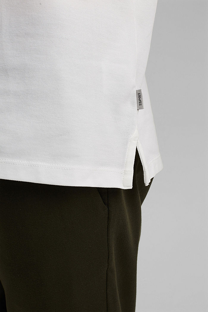 Piqué polo shirt in organic cotton, OFF WHITE, detail image number 1