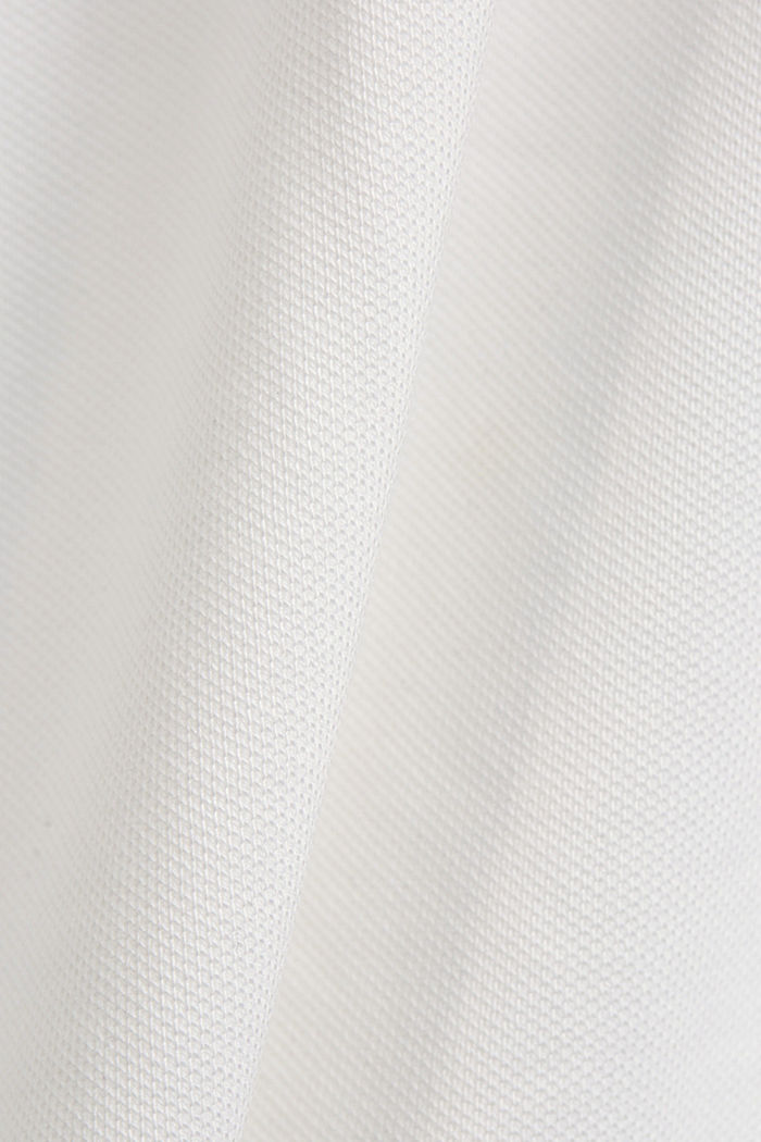 Piqué polo shirt in organic cotton, OFF WHITE, detail image number 5