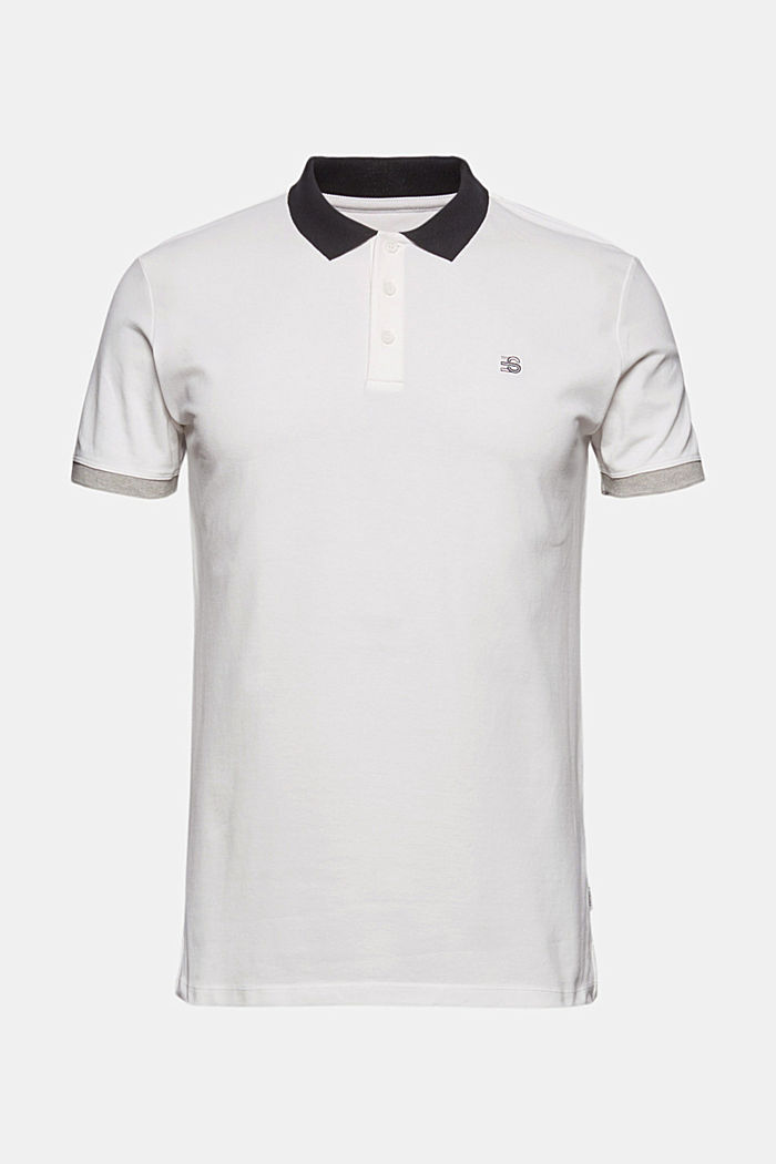 Piqué polo shirt in organic cotton, OFF WHITE, detail image number 7