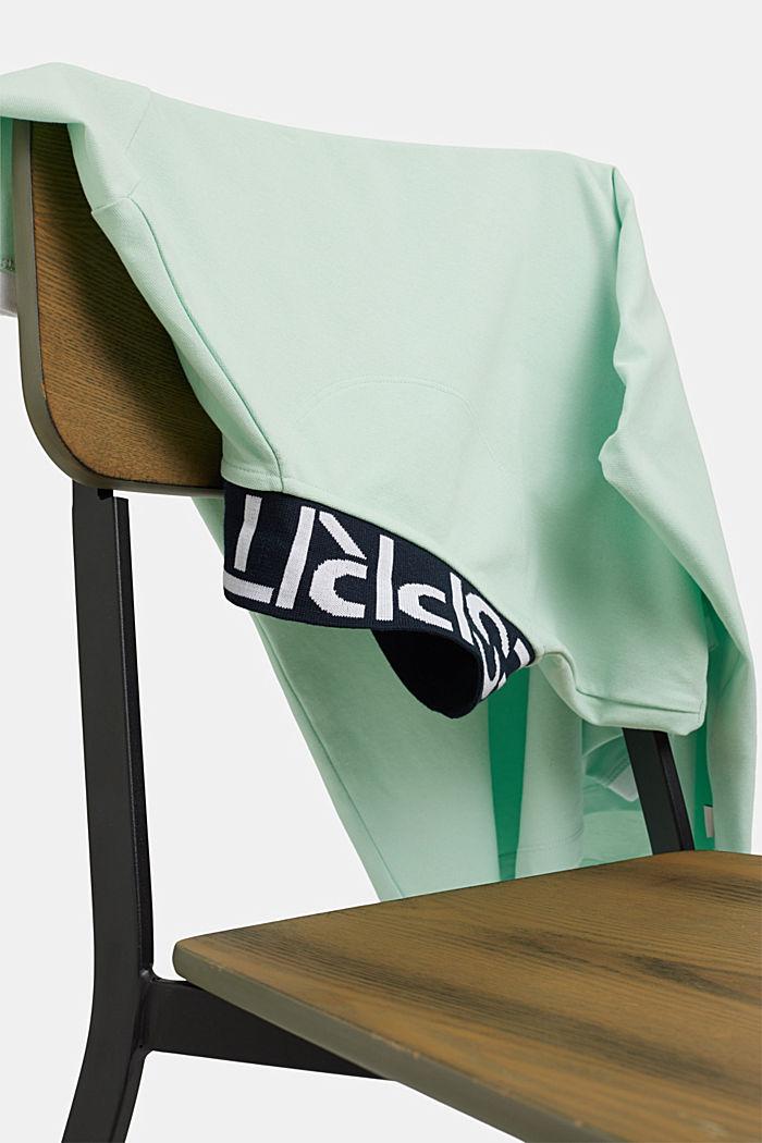 Piqué poloshirt van biologisch katoen, PASTEL GREEN, detail image number 4