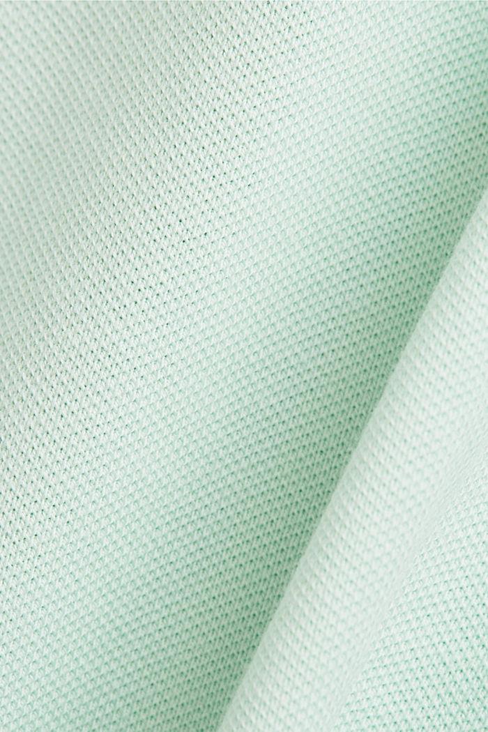 Piqué poloshirt van biologisch katoen, PASTEL GREEN, detail image number 5