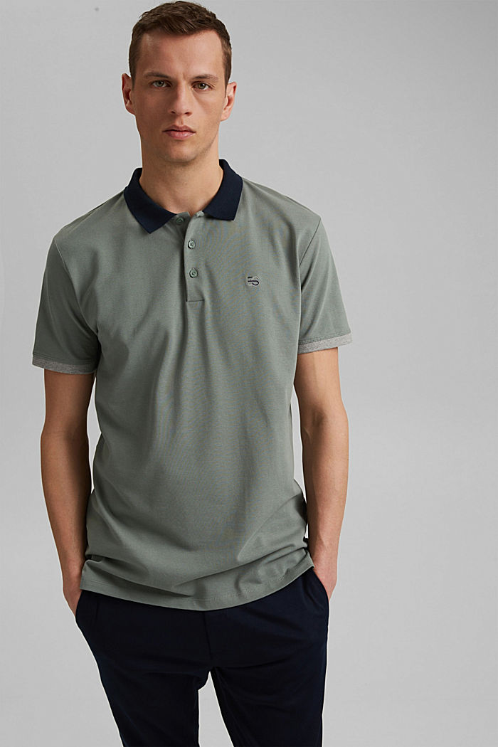 Piqué-Poloshirt aus Organic Cotton, LIGHT KHAKI, detail image number 0