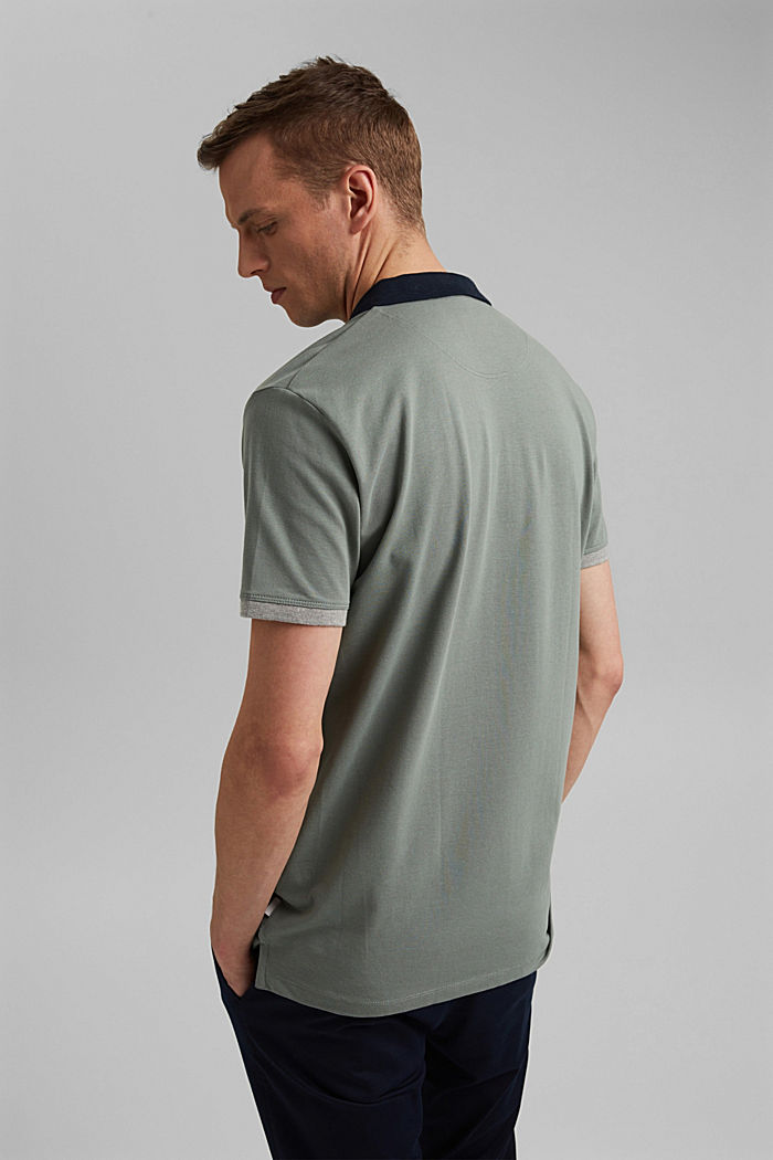 Piqué-Poloshirt aus Organic Cotton, LIGHT KHAKI, detail image number 3
