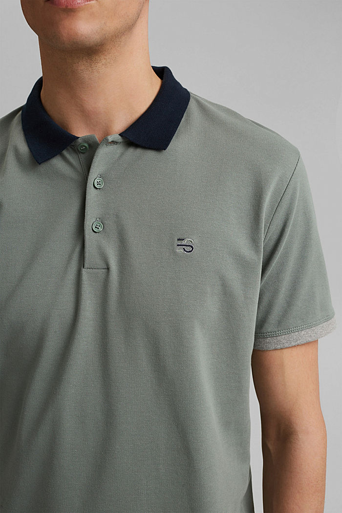 Piqué-Poloshirt aus Organic Cotton, LIGHT KHAKI, detail image number 1