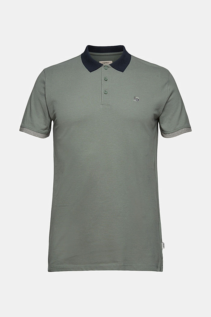 Piqué-Poloshirt aus Organic Cotton, LIGHT KHAKI, detail image number 6