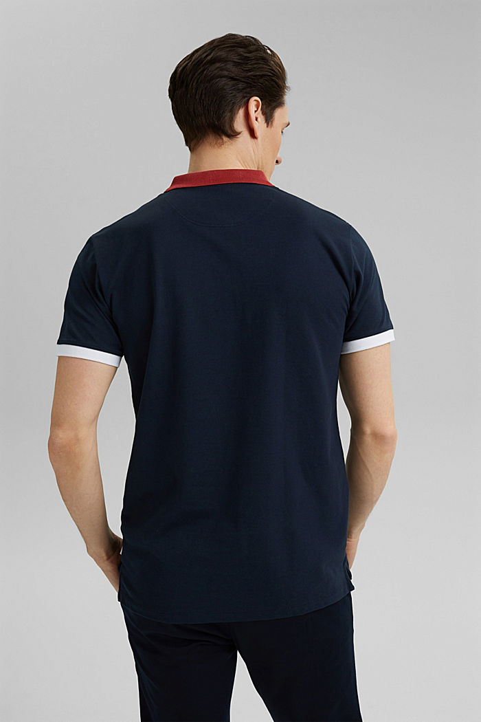Piqué polo shirt in organic cotton, NAVY, detail image number 3