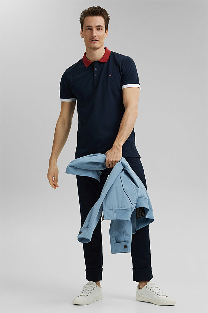 Piqué polo shirt in organic cotton, NAVY, detail image number 2