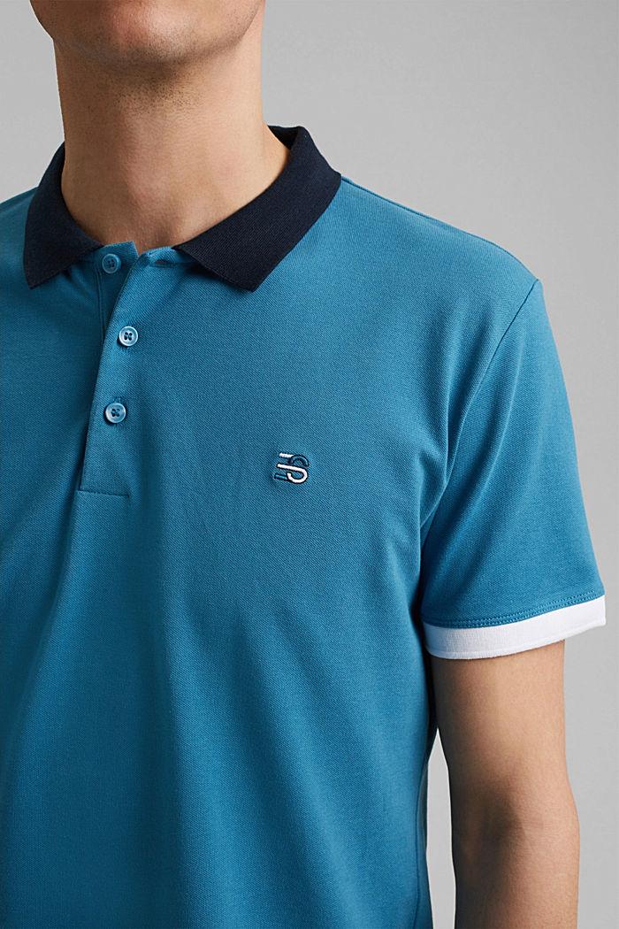 Piqué-Poloshirt aus Organic Cotton, PETROL BLUE, detail image number 1