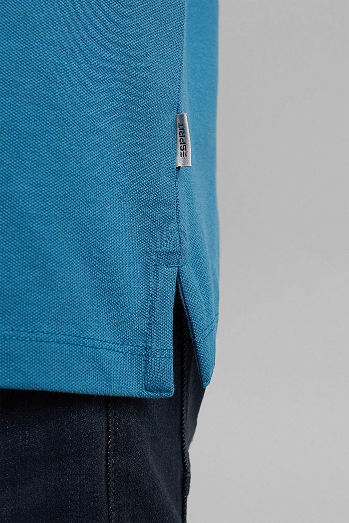 Piqué-Poloshirt aus Organic Cotton, PETROL BLUE, detail image number 7