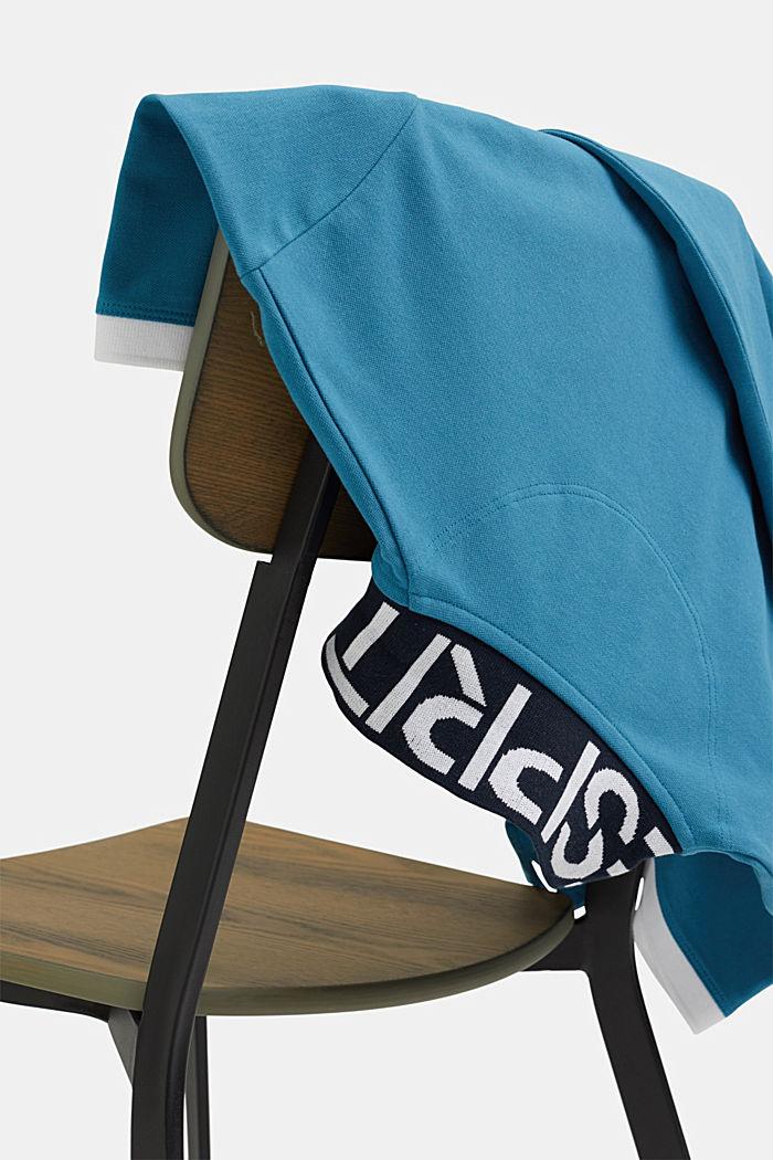 Piqué-Poloshirt aus Organic Cotton, PETROL BLUE, detail image number 6