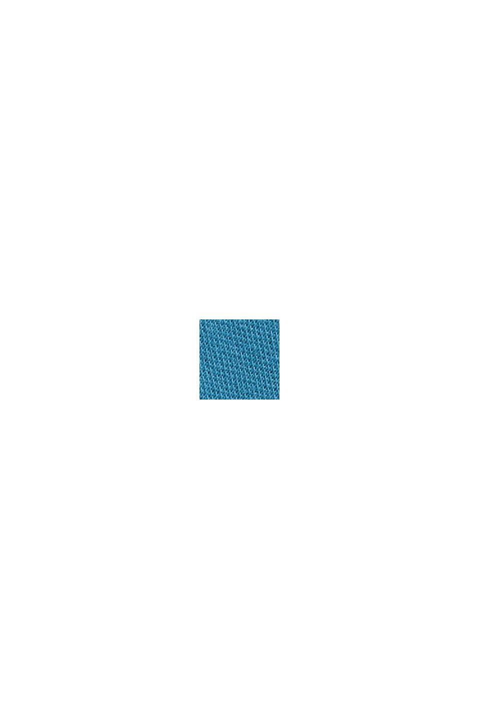 Polo en maille piquée, coton bio, PETROL BLUE, swatch