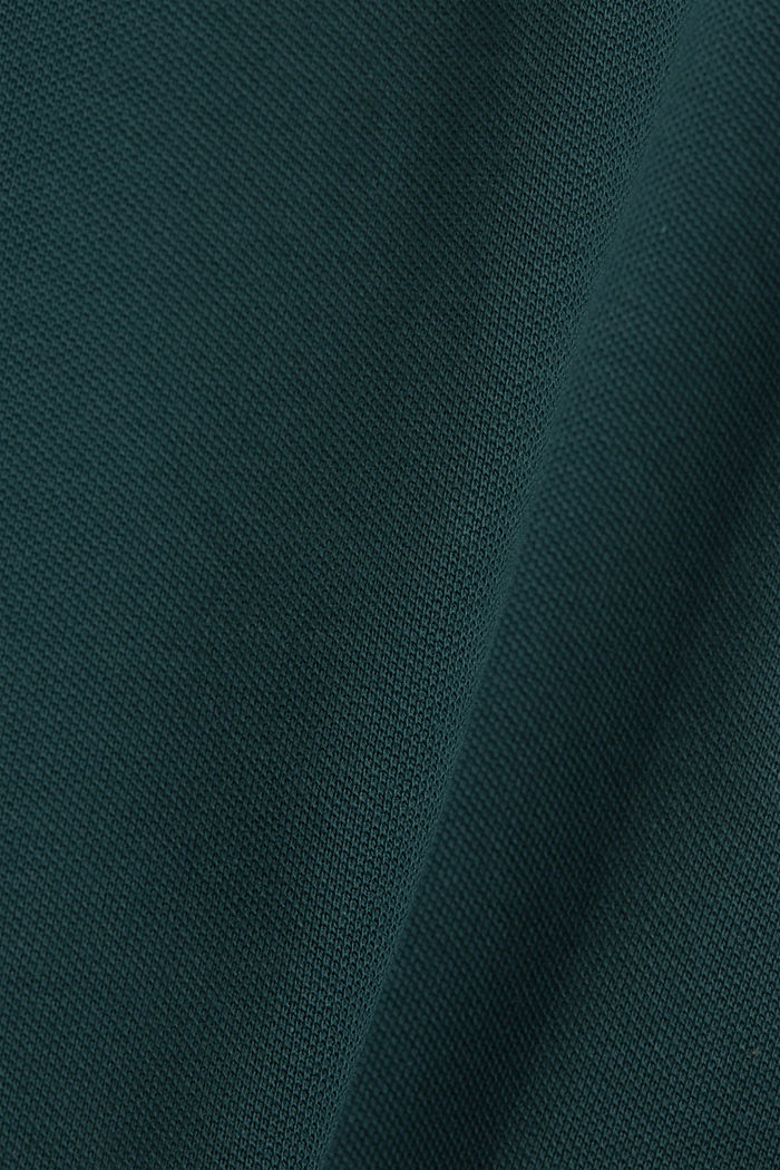 Piqué polo shirt in organic cotton, TEAL BLUE, detail image number 5