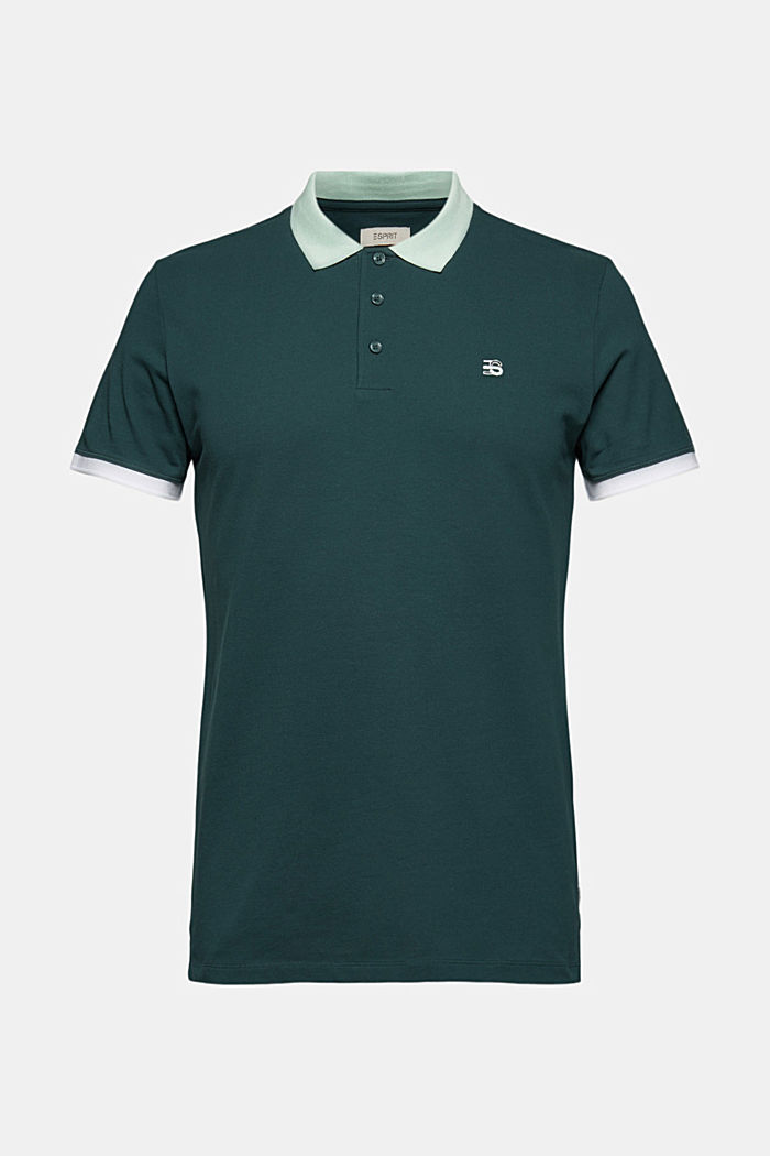 Piqué polo shirt in organic cotton