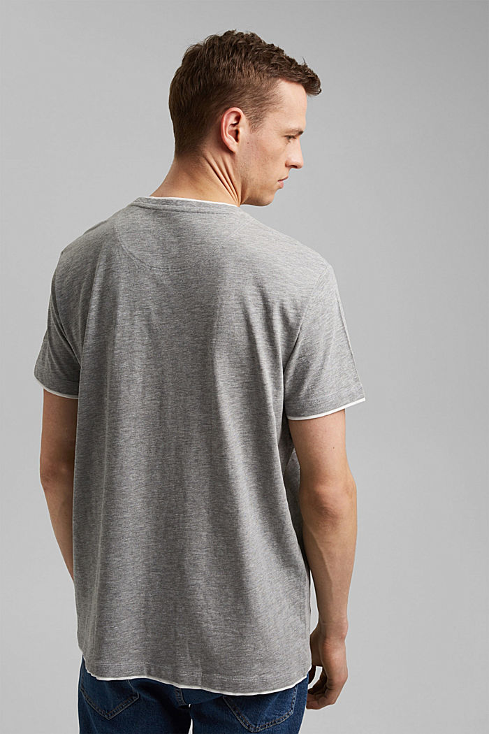 Layer-Jersey-Shirt mit Organic Cotton, MEDIUM GREY, detail image number 3