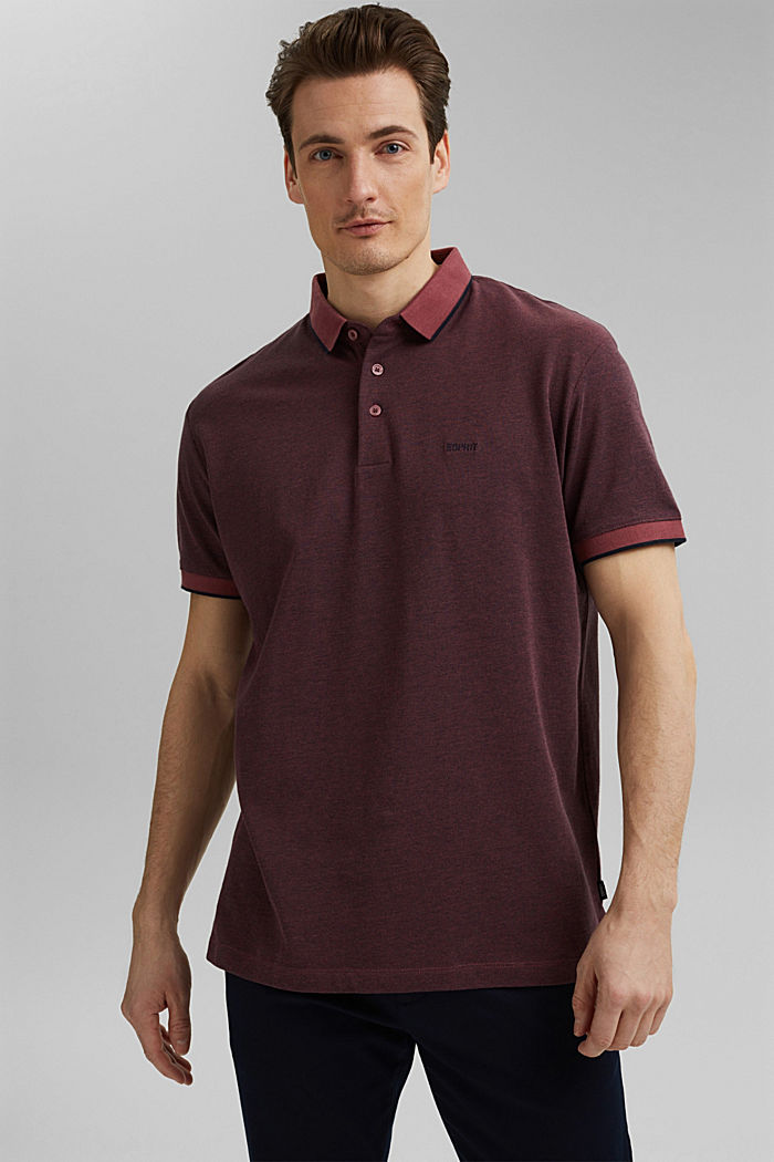 Piqué-Poloshirt aus 100% Organic Cotton, BERRY RED, detail image number 0
