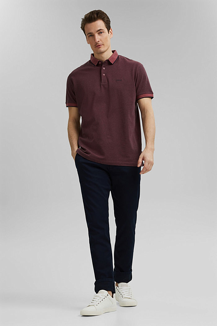 Piqué-Poloshirt aus 100% Organic Cotton, BERRY RED, detail image number 2