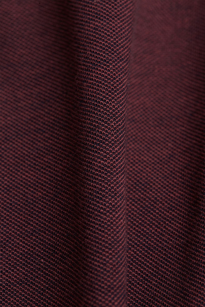 Piqué-Poloshirt aus 100% Organic Cotton, BERRY RED, detail image number 4