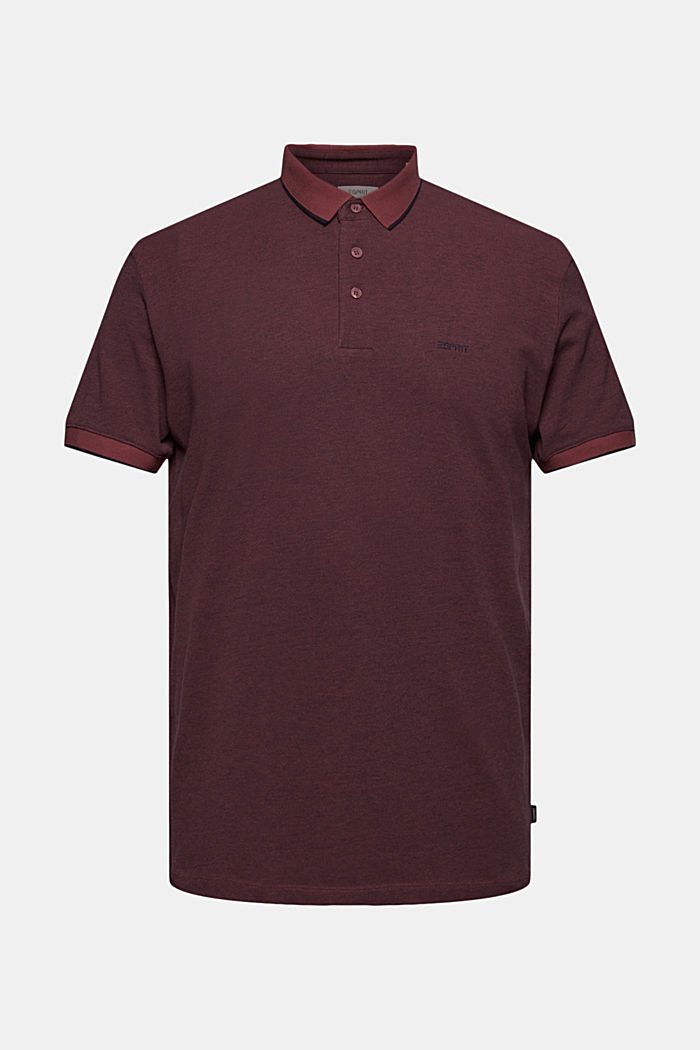 Piqué-Poloshirt aus 100% Organic Cotton, BERRY RED, overview