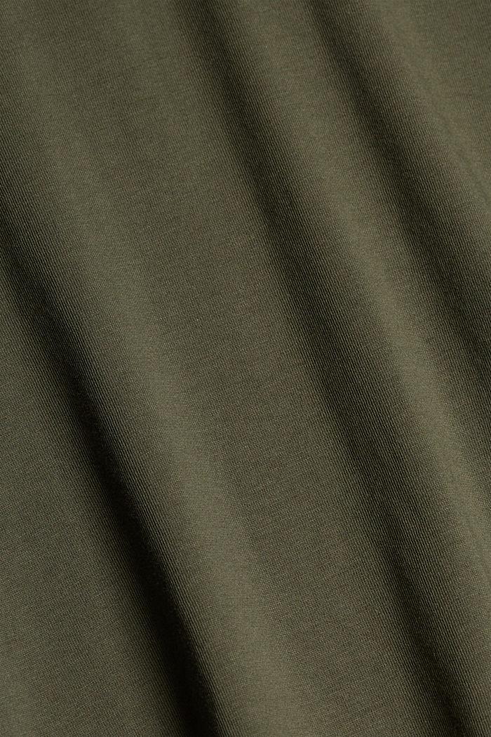 Print-Shirt aus Organic Cotton, DARK KHAKI, detail image number 4