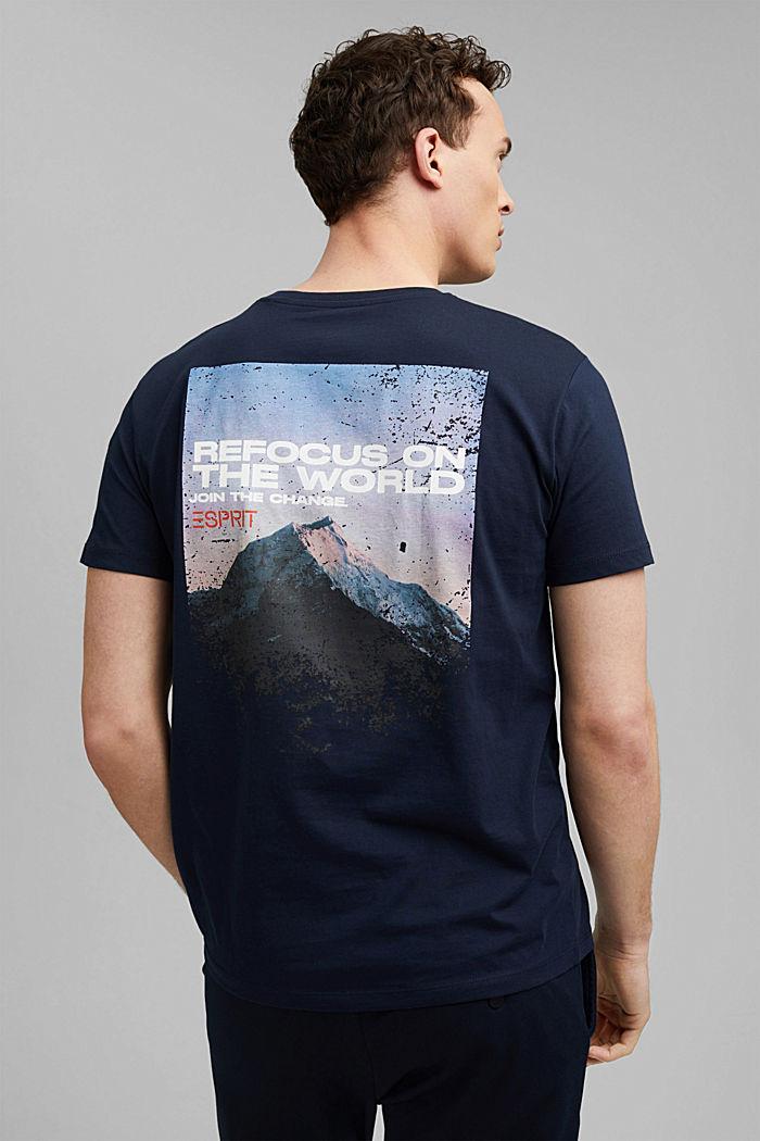 Organic cotton print T-shirt, NAVY, detail image number 3