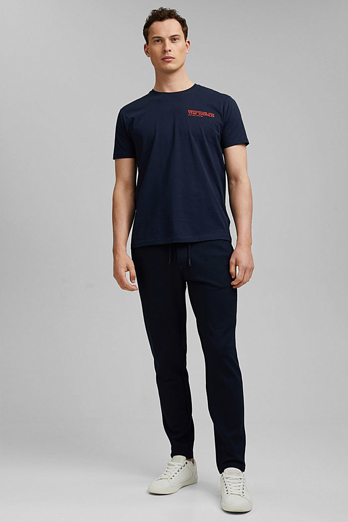 Organic cotton print T-shirt, NAVY, detail image number 6